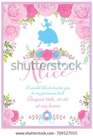 Princess invitation stock images royalty free images vectors birthday princess invitation stopboris Image collections