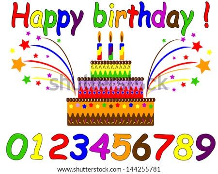 Birthday set. - stock vector