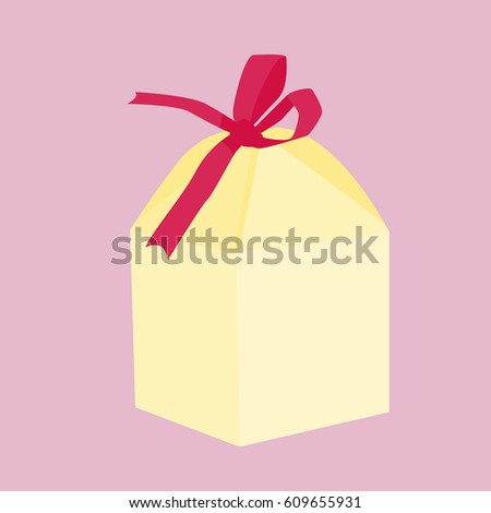 Birthday, wedding gift box. Card, invitation design. Vector ...