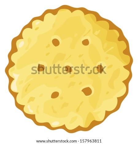 biscuit cookie cracker - stock vector