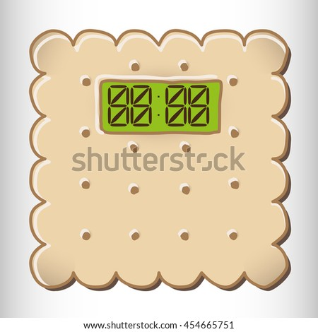 Biscuit Timer.  Vector illustration. - stock vector