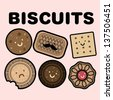 biscuits template vector/illustration - stock vector