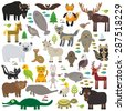 bison bat manatee fox elk horse ...