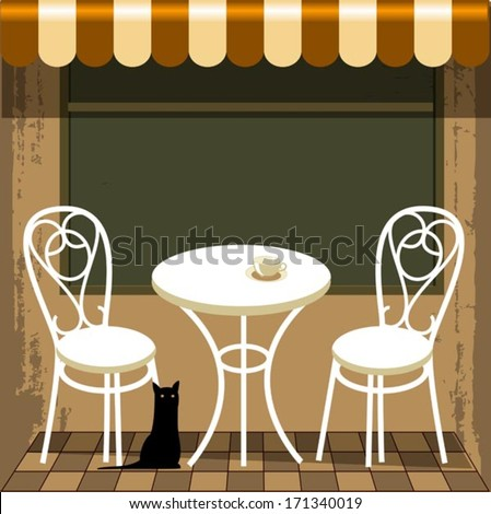 bistro in Paris - stock vector