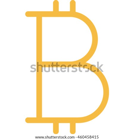 bit coin outline icon