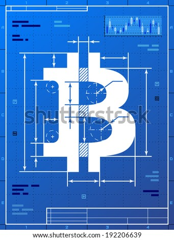 Christmas cake like blueprint drawing stylized vectores en stock bitcoin sign like blueprint drawing stylized drafting of money symbol on blueprint paper vector malvernweather Choice Image