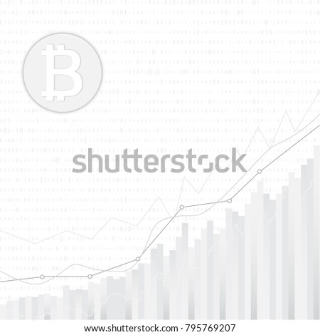 Bitcoin Symbol Price Chartcryptocurrency Concept Bitcoin Stock