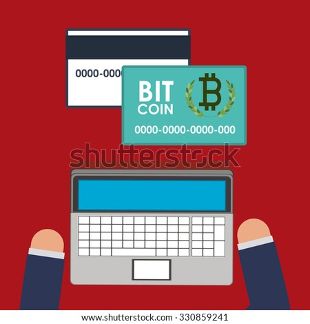 bitcoin trading design, vector illustration eps10 graphic  - stock vector