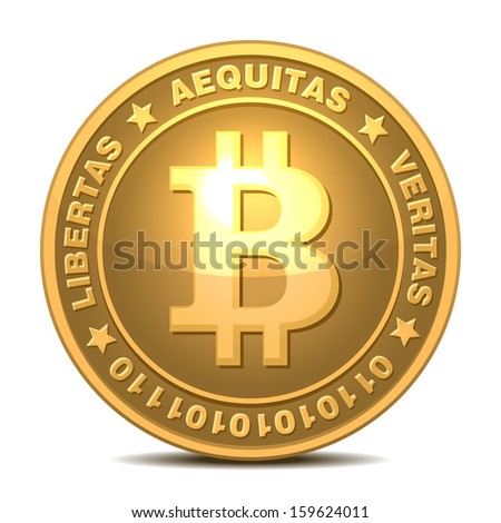 Bitcoins - stock vector