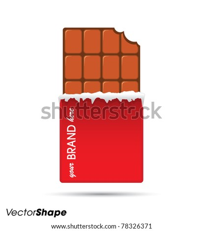 Bitten Chocolate Bar in Red