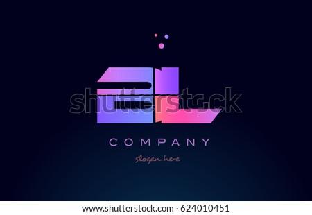 Bl B L Creative Color Blue Stock Vector 624010451 Shutterstock