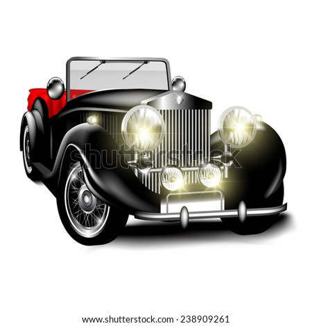 Old Car White Background Stock Vectors Images Vector Art