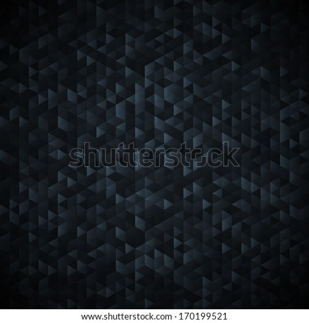 Black abstract background. Sequins mosaic pattern. - stock vector