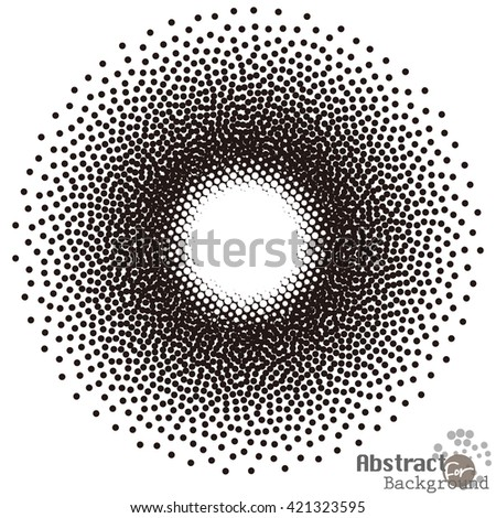 Black abstract halftone circle shape design Element, frame with empty space for your text, frame with empty space for your text, vector illustration