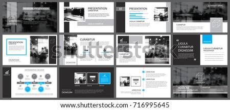 Black and blue element for slide infographic on background. Presentation template. Use for business annual report, flyer, corporate marketing, leaflet, advertising, brochure, modern style.