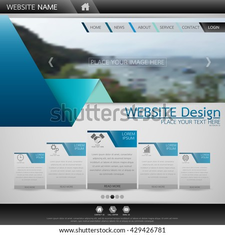 Black blue fold technology one page stock vector 429426781 black and blue fold technology one page business website template background for web shop design wajeb Choice Image