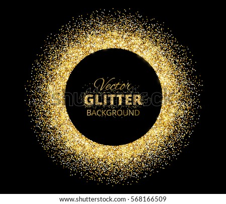 Black Gold Background Circle Frame Space Stock Vector 568166491 - Shutterstock