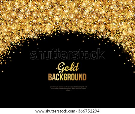 Black Gold Banner Greeting Card Design Stock Vector 366752294