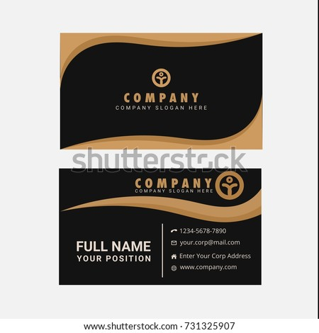 Black gold business card vector stock vector royalty free black and gold business card vector reheart Gallery