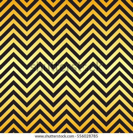 Black and gold chevron pattern background