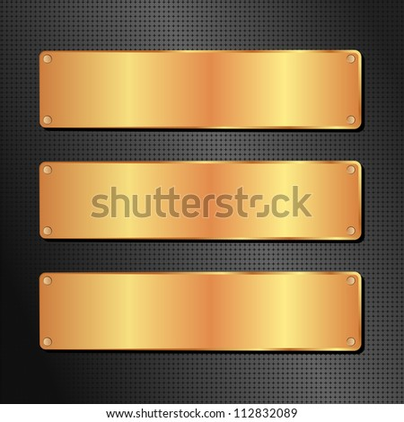 black and golden background with copy space - stock vector