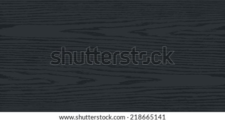 Black and gray color natural wood texture background on horizontal format in flat style. Realistic plank with annual years circles. This vector illustration design elements saved in 8 eps - stock vector