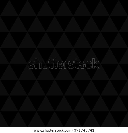 Black and gray seamless triangle pattern, background, texture.