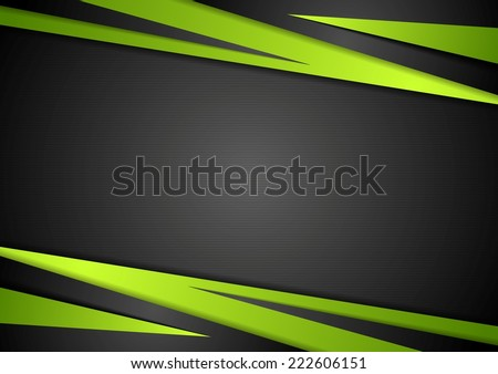 Black and green abstract design. Vector background - stock vector