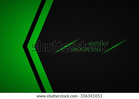 Black and green abstract vector background with place for your text - stock vector