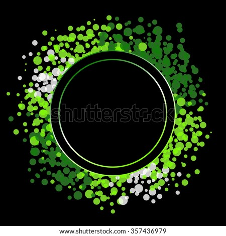 black and green label background vector  - stock vector