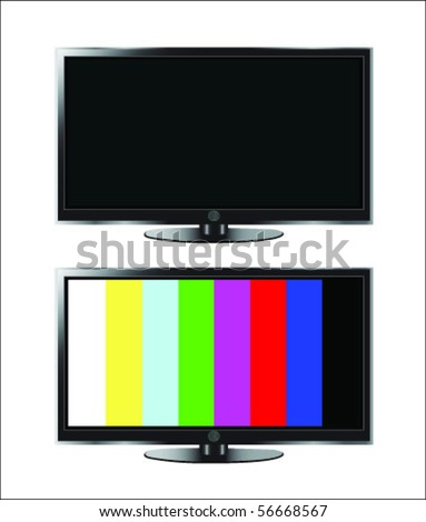 black and lcd television with no signal vector