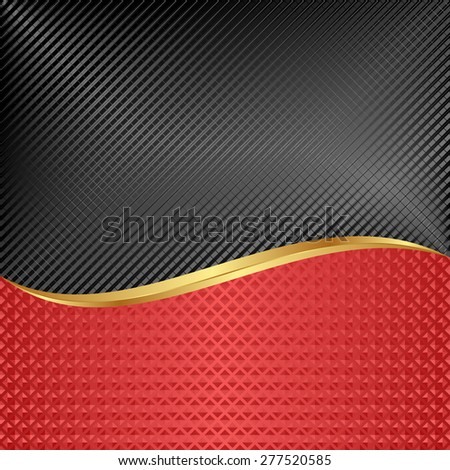black and red background divided into two - stock vector