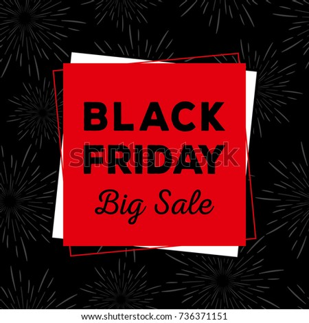 Black and red black friday banner