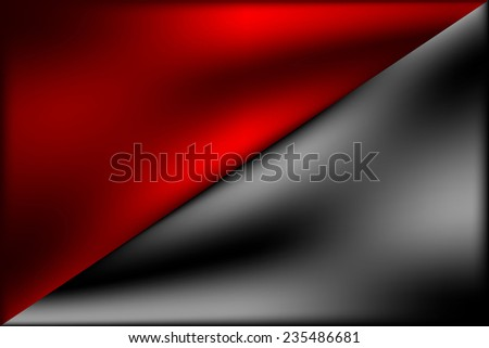 Black and red flag of anarchy. Vector illustration. - stock vector