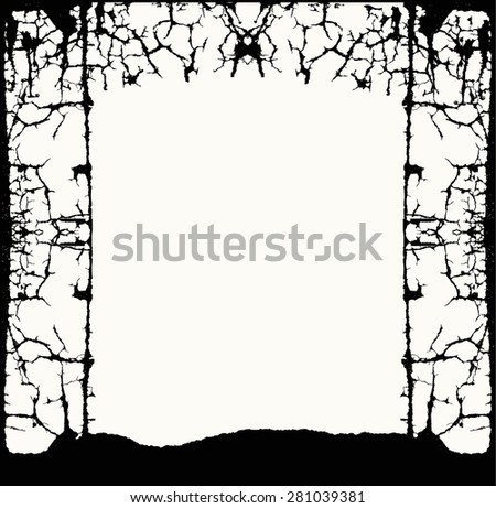 Black and white abstract background of lines, a 3D black and white conceptual constructions of shapes or a frame, for invitation card template, post card and gift card design, funeral card background. - stock vector