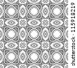 Black and white abstract hand-drawn pattern, background with floral ornament. Seamless pattern for wallpapers, web page backgrounds, surface textures. - stock vector