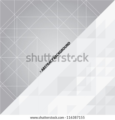 Black and white abstract vector background - stock vector