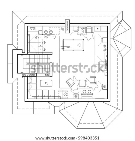 Pool table stock images royalty free images vectors for Apartment stock plans
