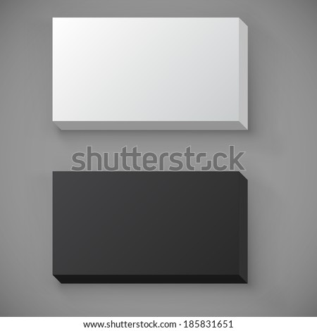 Black white blank standard business card stock vector hd royalty black and white blank standard business card stack vector template reheart Images