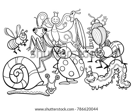 garden bugs coloring pages - photo#40