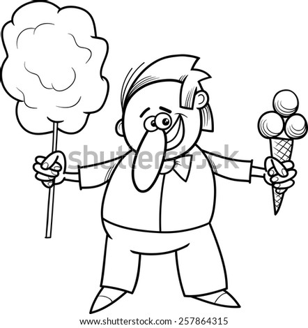 Candy Floss Drawing Ice Cream And Candy Floss