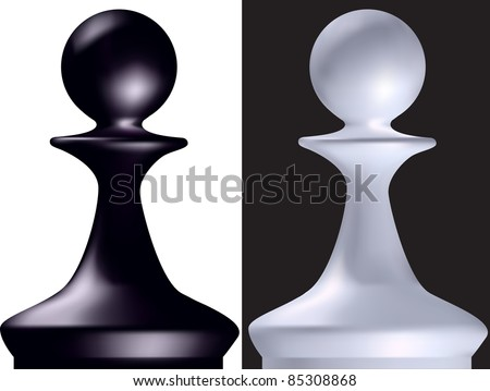 Black and white chess figure a pawn in a vector