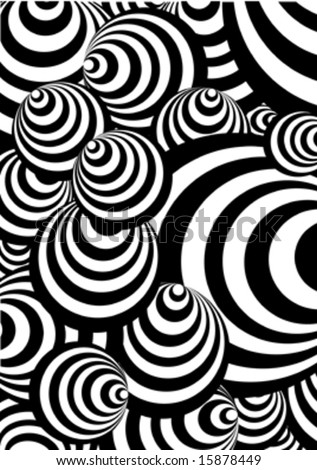 black and white circle vector - stock vector