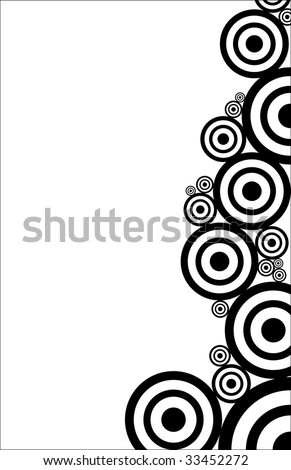 black and white circles texture - stock vector