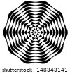 Black and White Circular Style Pattern. Vector - stock