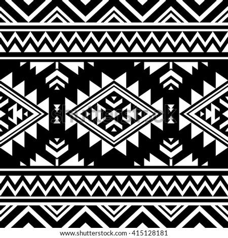 black white color tribal navajo vector stock vector