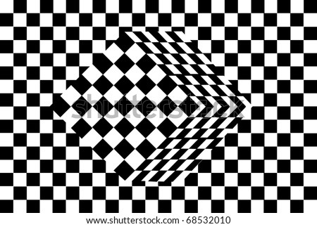 black and white cube optical illusion vector - stock vector