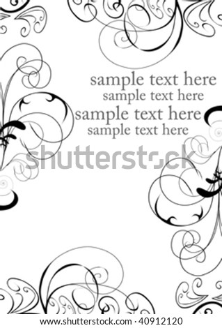 black and white decorative design with place for text