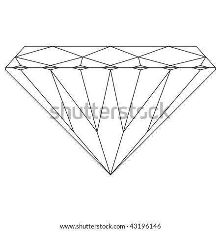 black and white drawing of a Diamond