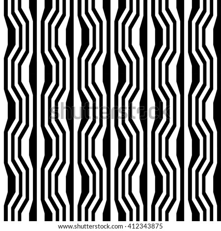 black and white fashion pattern